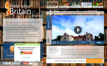 Bing Britain homepage