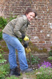 Gardening apprentice Rebecca Lloyd