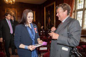 Dr Sandy Lerner and CHL trustee, Mr Richard Knight