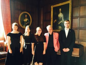 Professor David Owen Norris and the talented music students from the University of Southampton who performed on 16 July.