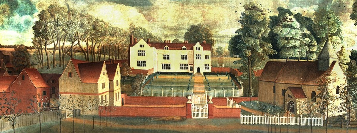 c.1740 painting of Chawton House