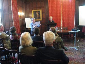 Photo of Jacky Bratton and Gilli Bush-Bailey at Chawton House Library