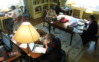 Visiting fellows working hard in the Reading Room