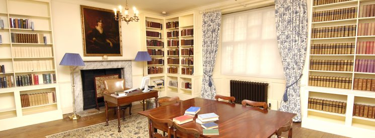 The Upper Reading Room where Visiting Fellows carry out their research