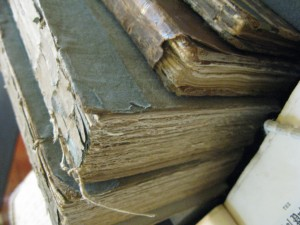 Books from the Chawton House Library collection in need of conservation