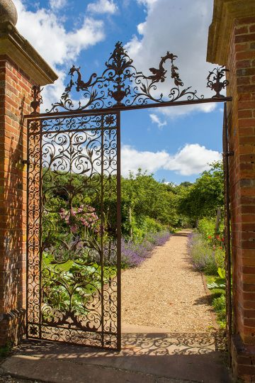The wrought-iron gates to the Walled Garden.