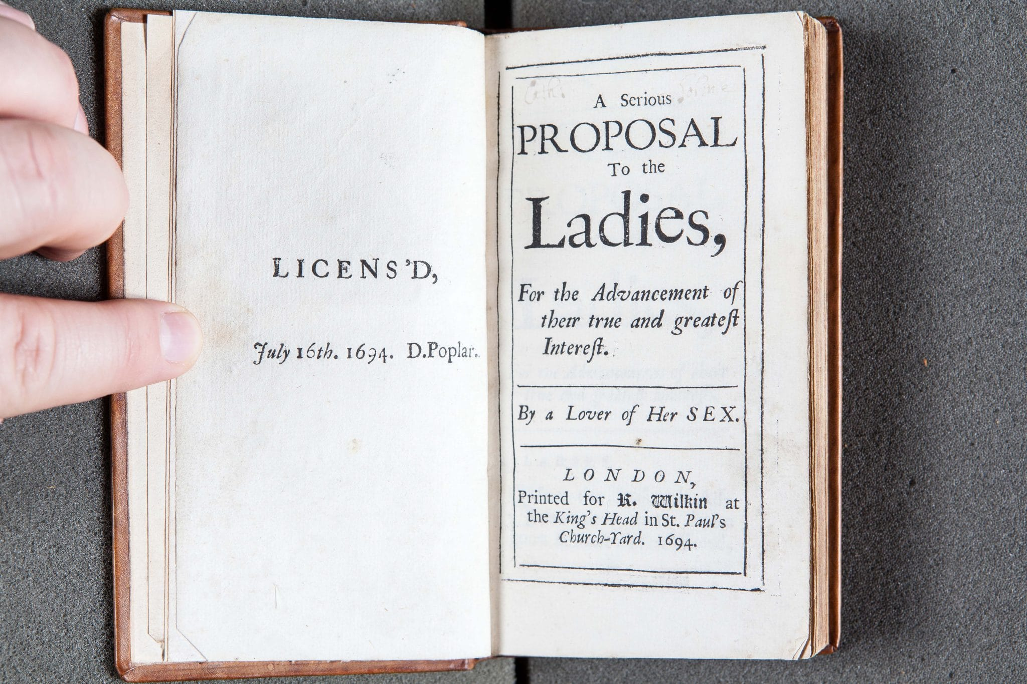 Titlepage of 'A Serious Proposal...', Mary Astell